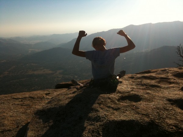 My daughter Sierra, 12, after her first time up Tollhouse Traverses sp...