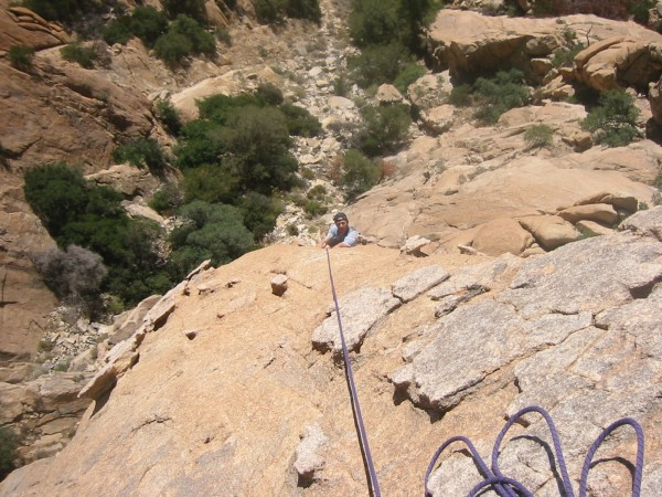 Looking down the plates. This type of Stronghold climbing is similar t...