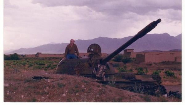 Don Paul riding T34 on the Shomali Plains