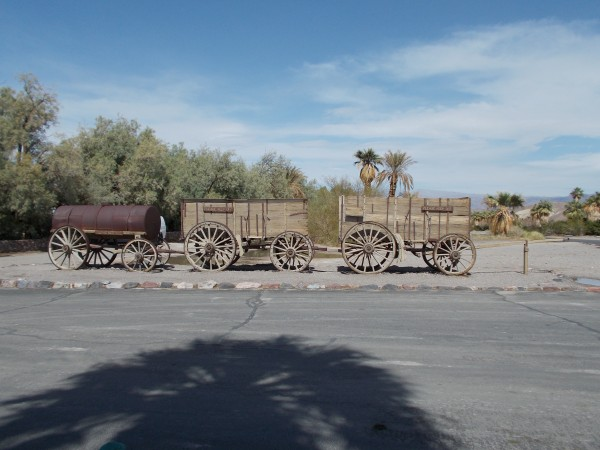 "The rolling end of the famous Borax ""20 Mule Team"""