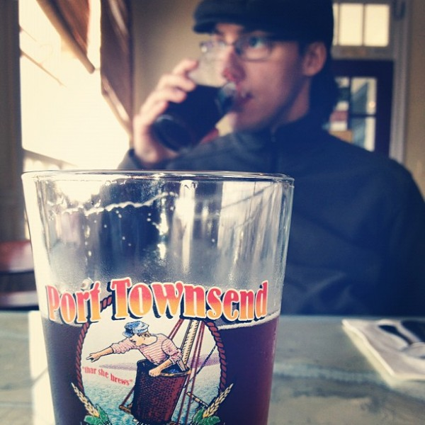 And...a beer a day keeps the doctor away. Lunch with my son today in P...