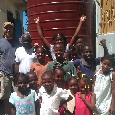 First water barrel installed and treatment system working at the orpha...