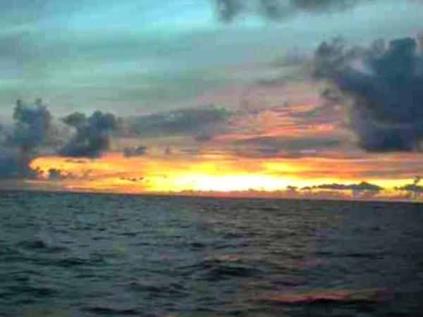 Sunset somewhere north of Hawaii