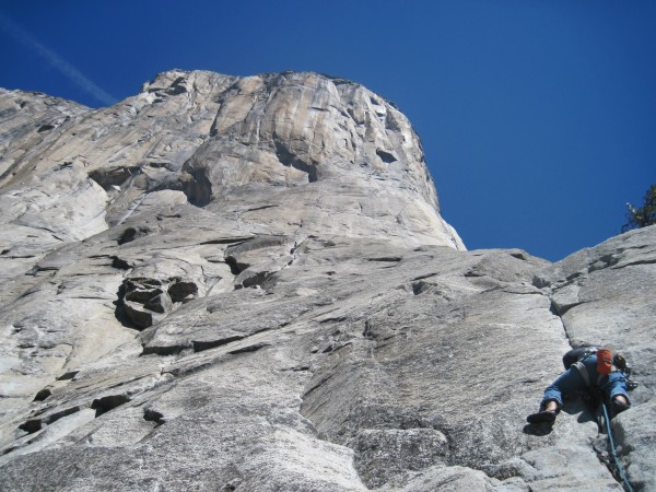 hunter leading 11c tips on pitch 17 of el cap!