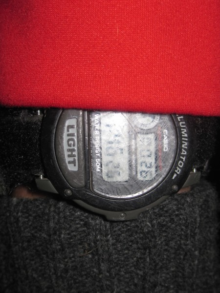 that is a picture of my watch at 4:40 am! yawn