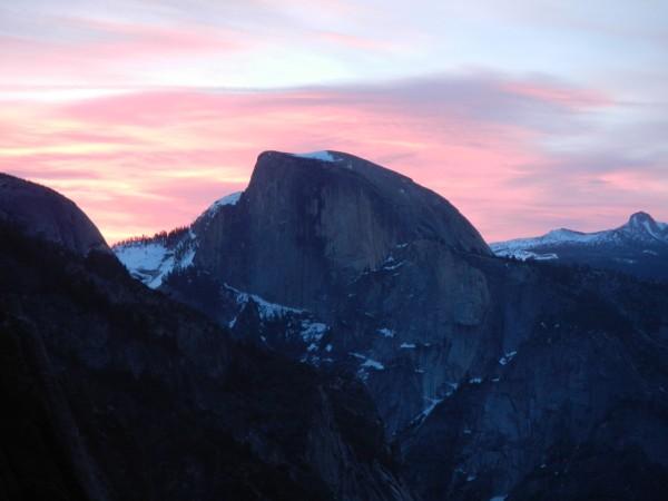 nice sun rise by half dome!