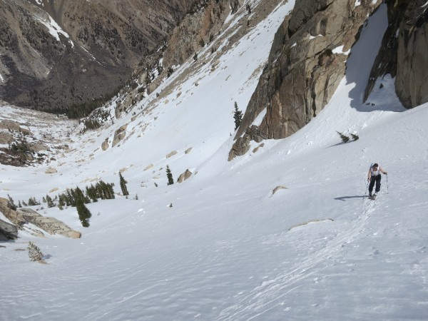 Steep skinning - beats walking!