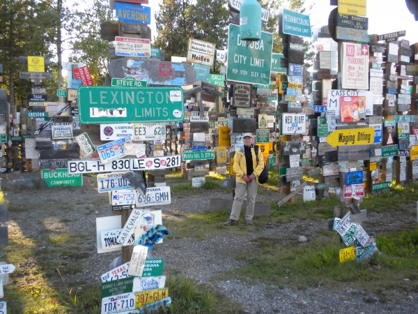 Watson Lake, The Yukon.  Which way home folks?   (Added note:  my ...