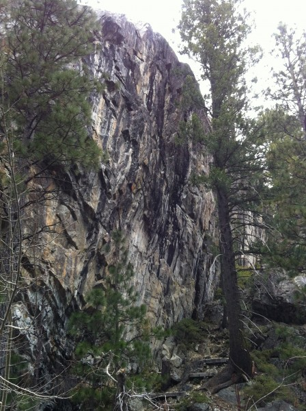 B Word Wall and Scottland (gully behind) offers the highest co...