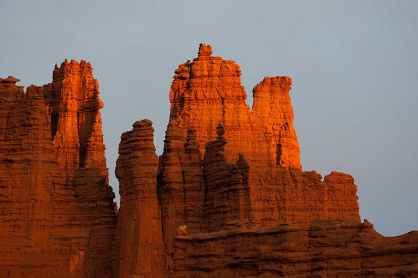 Fisher Towers, sunrise.