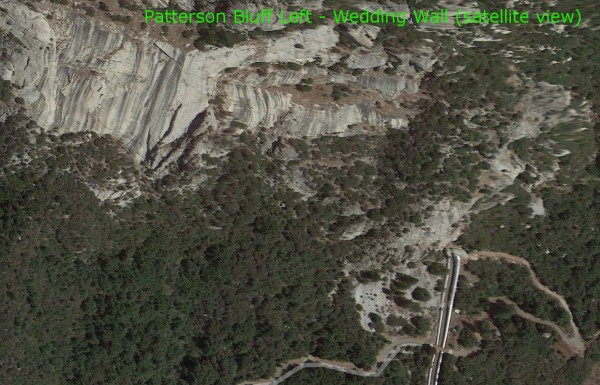 Patterson Bluff Left - Wedding Wall (satellite view)