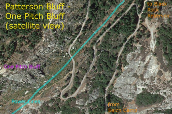 Patterson Bluff - One Pitch Bluff <br/>
