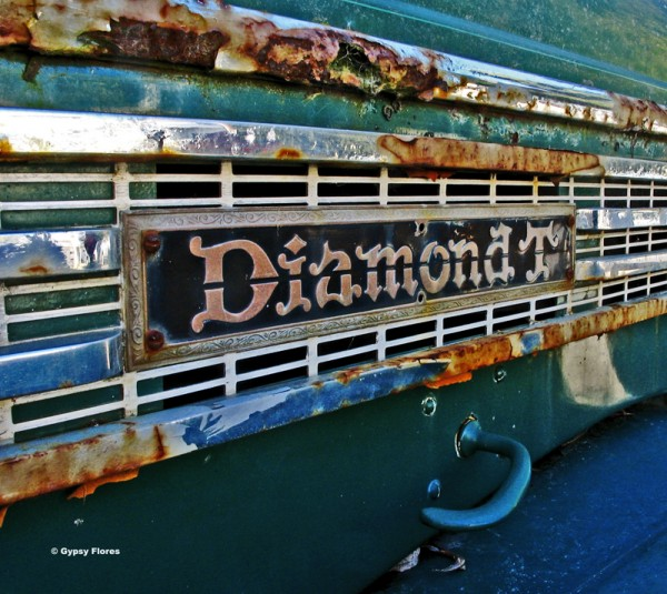 """Diamonds and Rust""  an old truck that was in Squid Row in downtown Sa..."