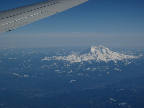 Mt. Rainier just prior to landing and changing planes - 2/15/13.