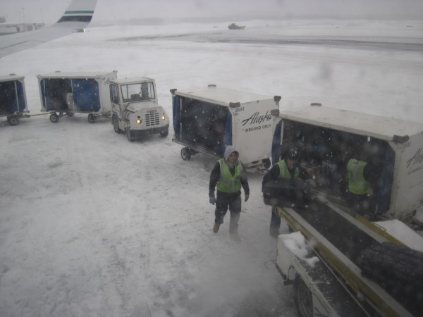 Arrived in Anchorage to winter-like weather and... (see next pic)