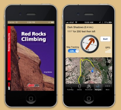 Red Rocks Climbing SuperTopo on the iPhone with Rakkup
