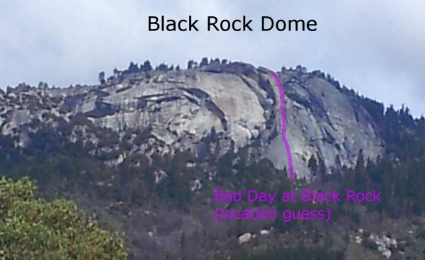 Black Rock Dome - north and slightly west of One Pitch Wonder