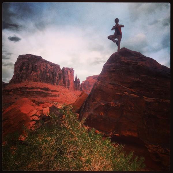 Desert yoga.