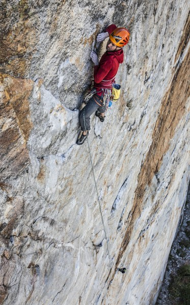 Some classic and amazing runout 5.10 up on Middle