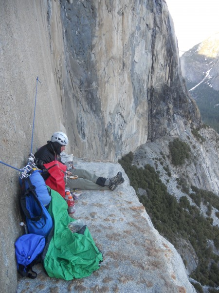 Enjoying a Flat Spot on El Cap Tower