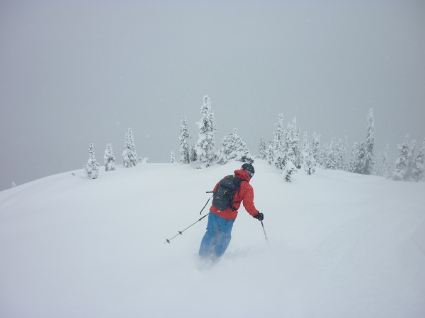 "About half way down the ""Wahooo!""  powder suddenly changed to ""Whoa - ..."