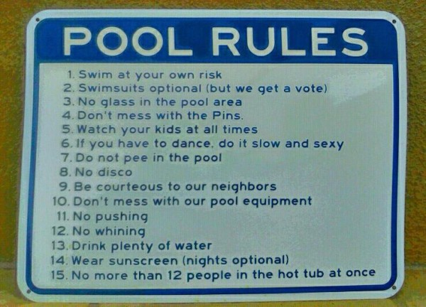 Best Pool Rules EVER ... <br/>
