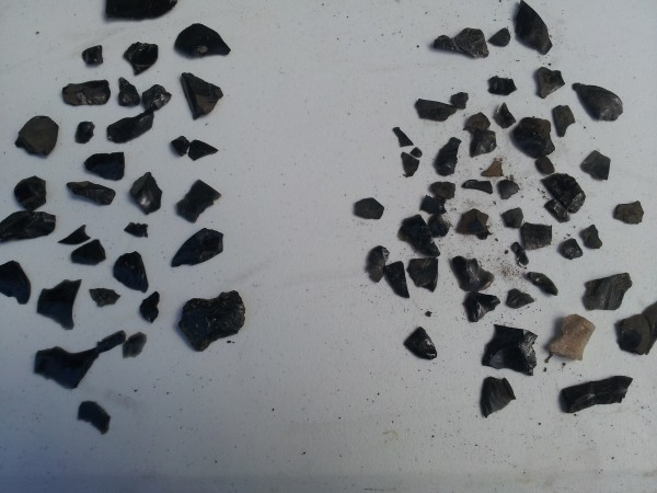 Obsidian chips