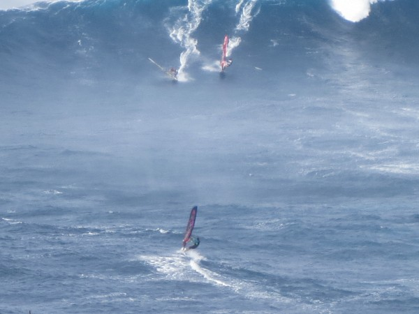 windsurfing at Peahi on Maui