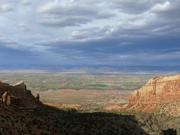 View looking north towards Fruita