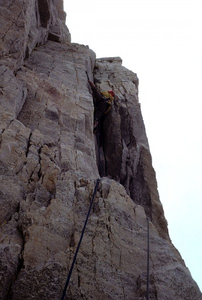 Crux 4th pitch, 5.10