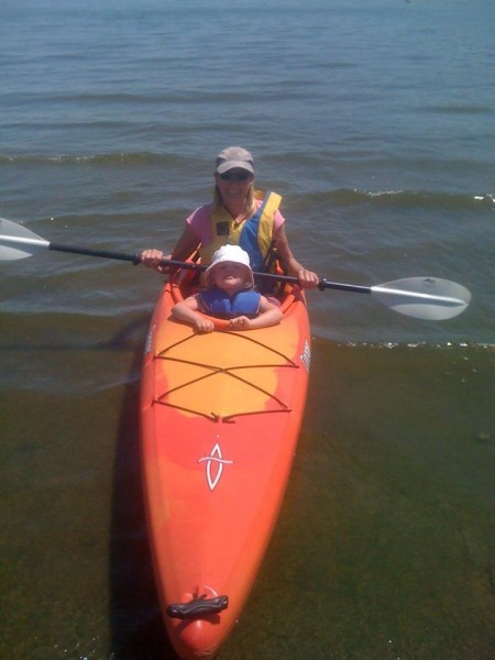 Kayaking this past Sunday with grand daughter Julianna.