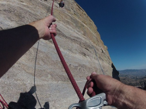 At the practice wall at Windy ~ Mt. Lemmon <br/>  <br/> photo by 10b