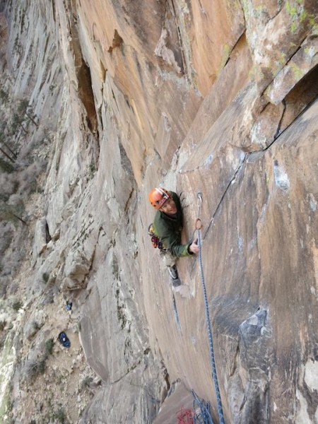 End of the Crux,p2 Rainbow Wall
