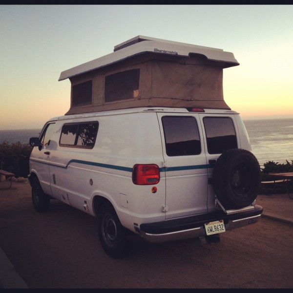 The van loving life in Malibu.