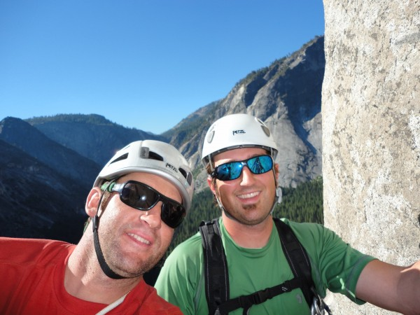 Andy and I at the top of pitch 1
