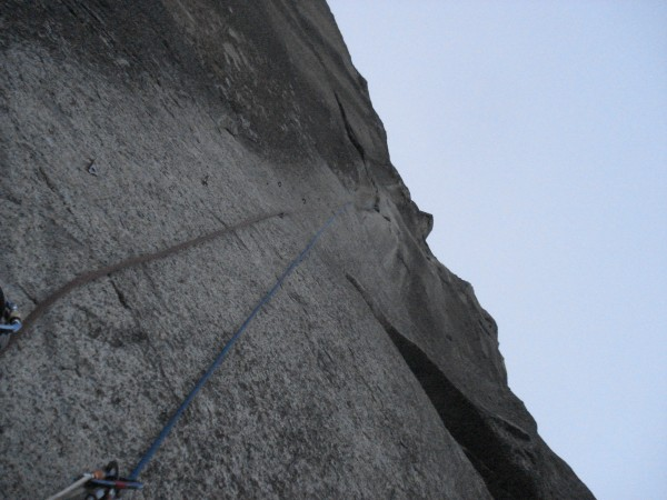 End of day 1- looking up pitch 4. Andy fixed this pitch and then we se...