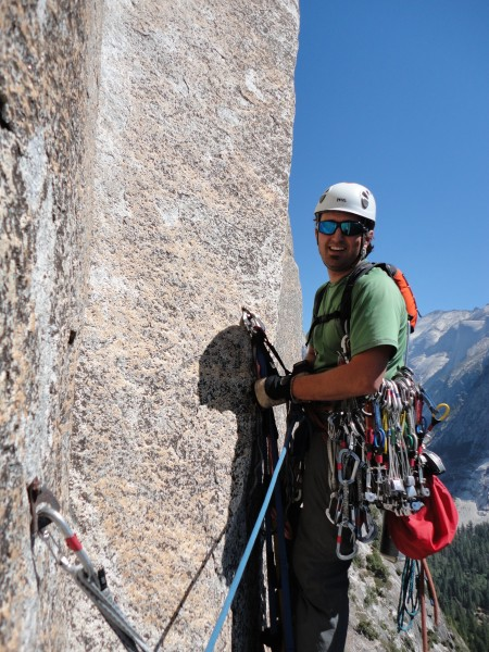 Andy leading off on pitch 6, another day of perfect September weather!