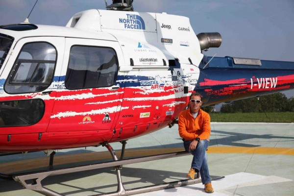 Simone Morro, an Athlete and a Gentleman with his new Eurocopter 2013