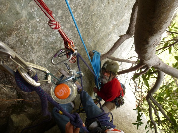 Definitely want a comfy harness for full hanging and swinging belay, b...