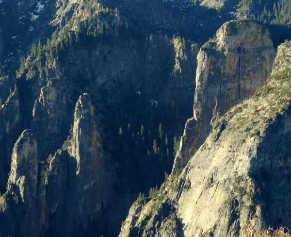 Cathedral Spires and Higher Cathedral as seen from El Cap