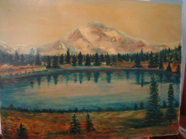 Neighbor's paintings: Longs Peak?