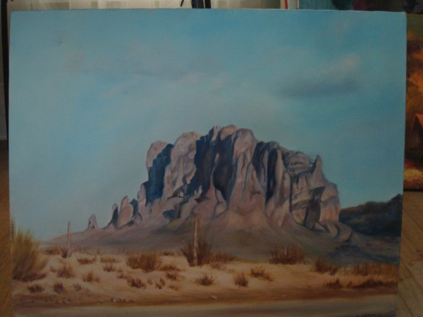 Neighbor's painting: somewhere in Joshua Tree?
