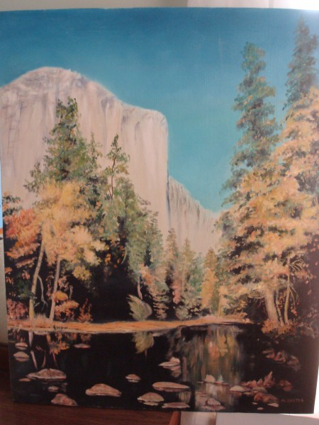 Neighbor's painting: El Capitan.  This one goes at A0 considering the ...