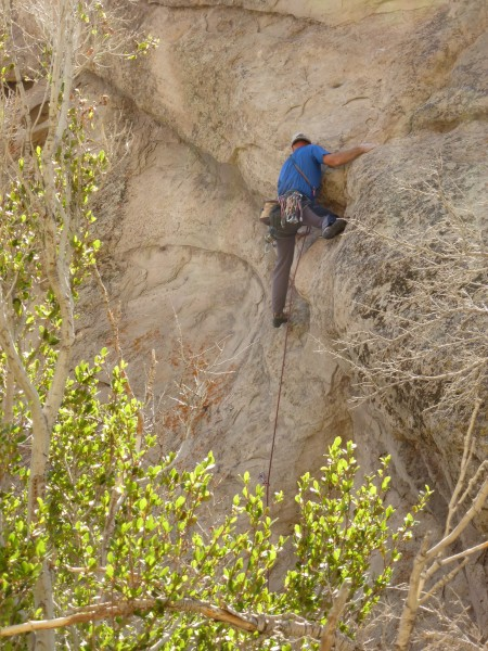 MisterE crankin' through the crux of a pretty tricky climb.