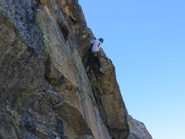 Dan on his new route