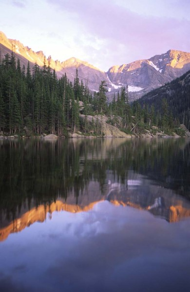Reflections! Spearhead center, Chiefshead on right. Longs Peak just of...