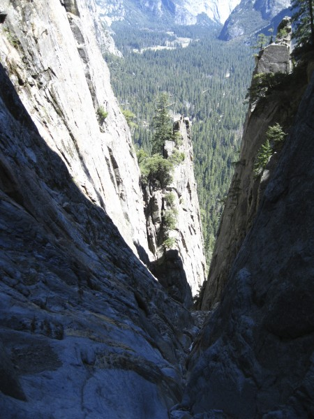 The descent gully