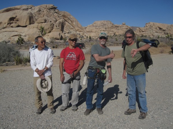 Echo Cove in Joshua Tree.  With SteveL, locker and Blitzo.  3/13