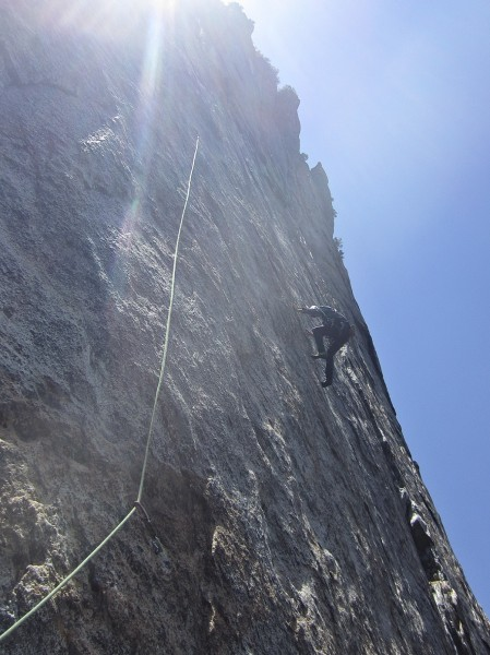 traverse after second bolt on pitch 6