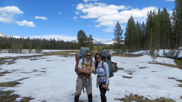 Victor and me near Delaney Creek